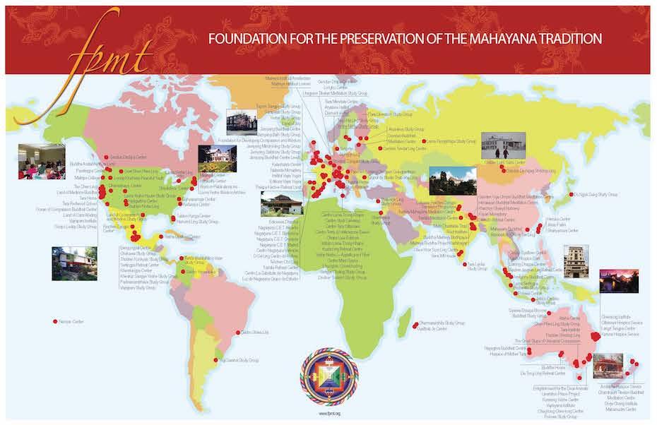 Mapa Fpmt